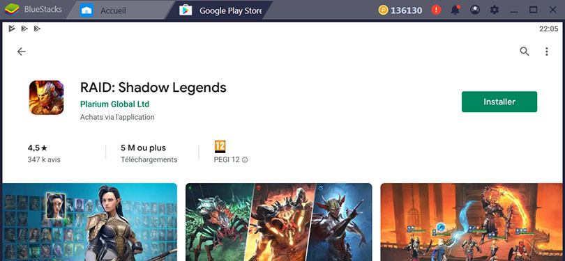 Installer RAID Shadow Legends sur Google Play
