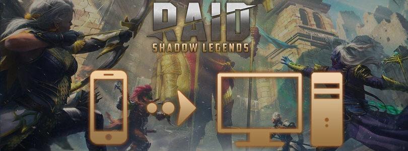 jouer à raid shadow legends sur pc