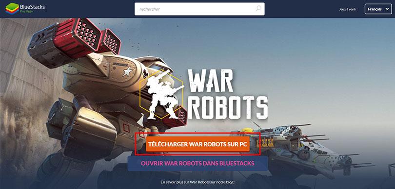 télécharger émulateur android war robots