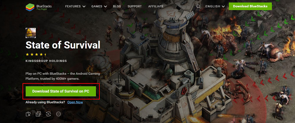 download android state of survival emulator