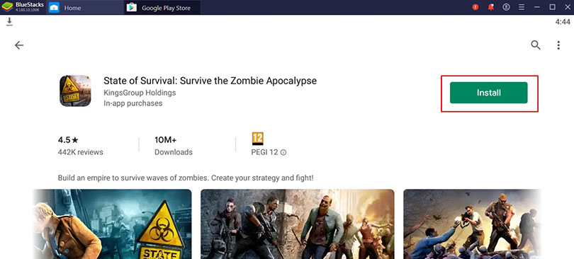 install state of survival on pc