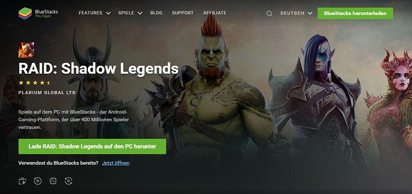 Android-Emulator herunterladen für  RAID Shadow Legends