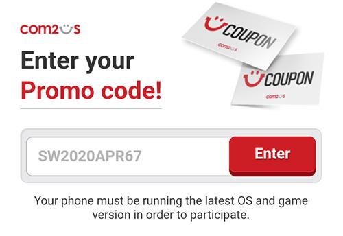 enter code summoners war