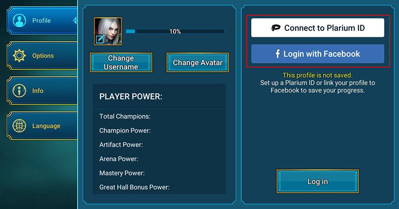 Erstellen Sie ein Konto am  RAID Shadow Legends