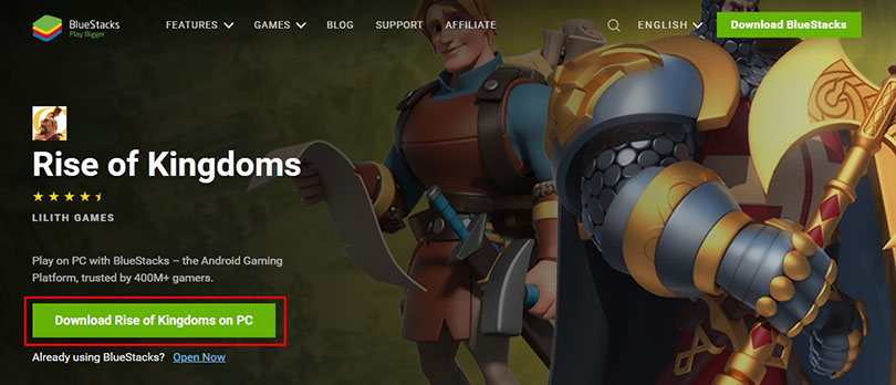 page download rise of kingdoms pc