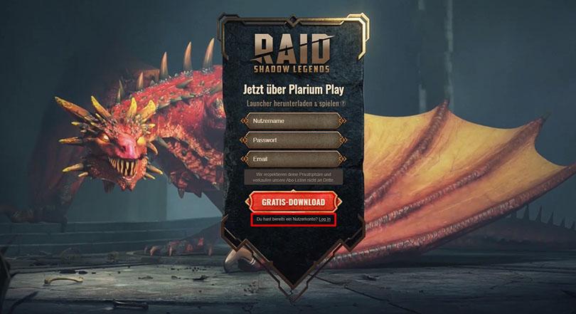 download  RAID Shadow Legends  auf pc mit plarium