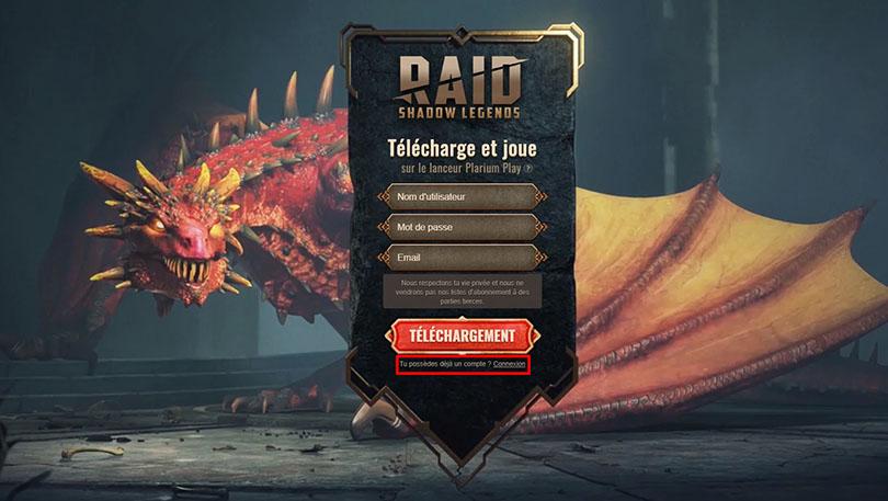 télécharger raid shadow legends sur pc avec plarium