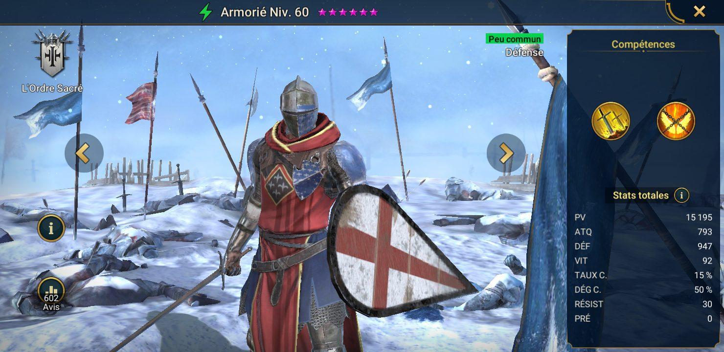 présentation d'armorie raid shadow legends