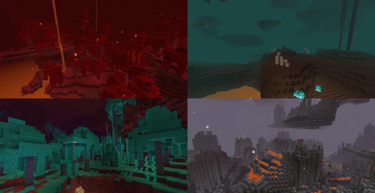 nouveaux biomes dans la mise à jour Minecraft mobile