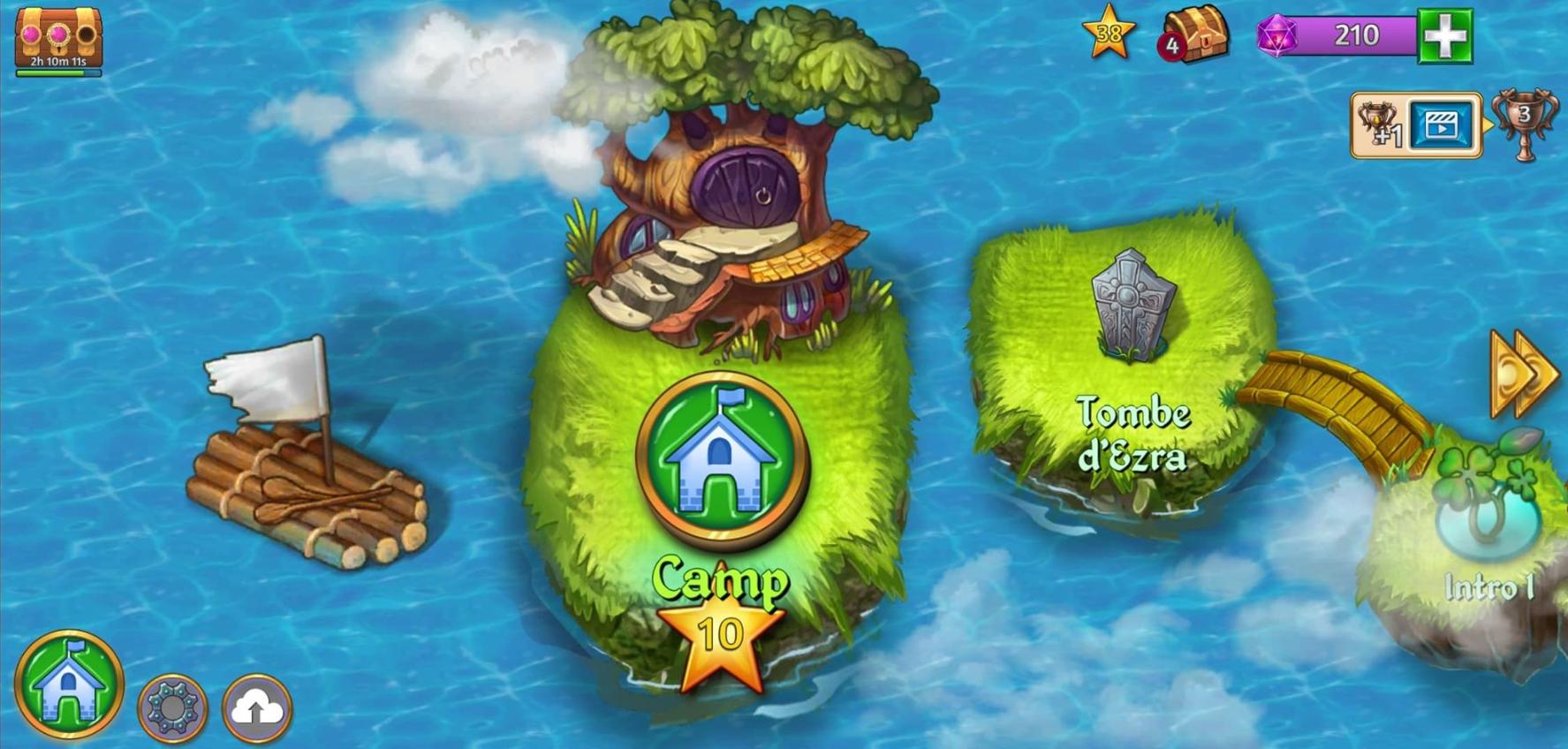 Merge Dragons : dépenser ses pièces au camp