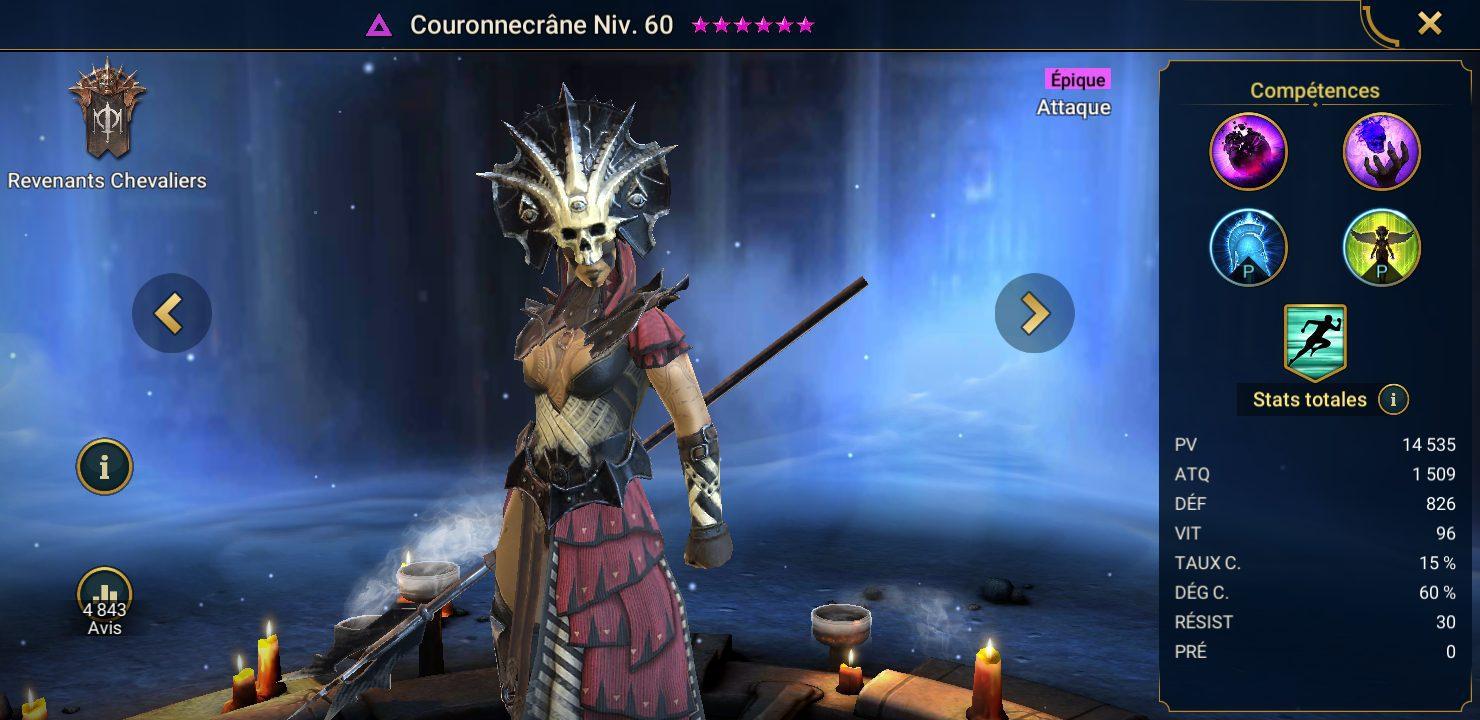 présentation de couronnecrane raid shadow legends