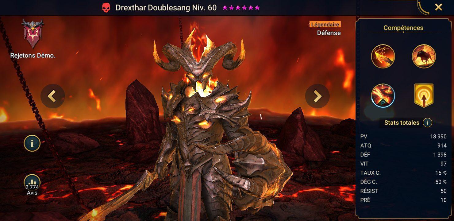 présentation drexthar doublesang raid shadow legends
