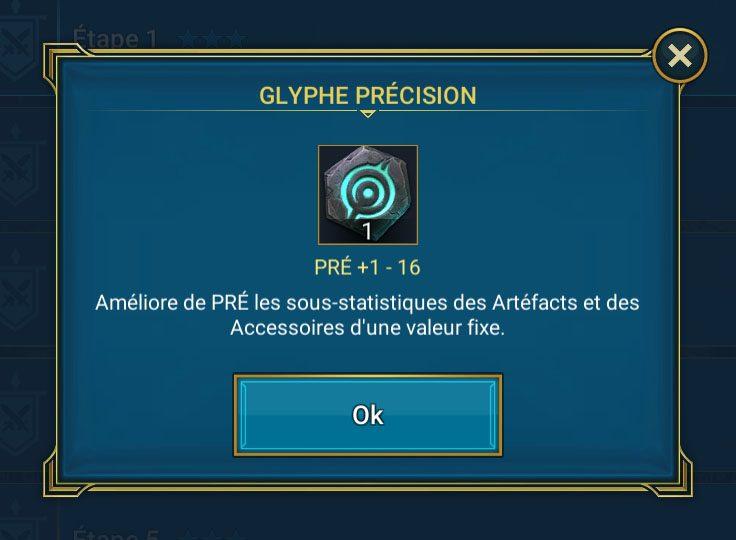 glyphe de précision