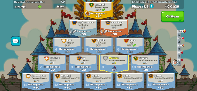 Présentation de la pyramide de tournoi de Hustle Castle