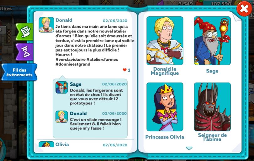 Dialogue dans Hustle Castle