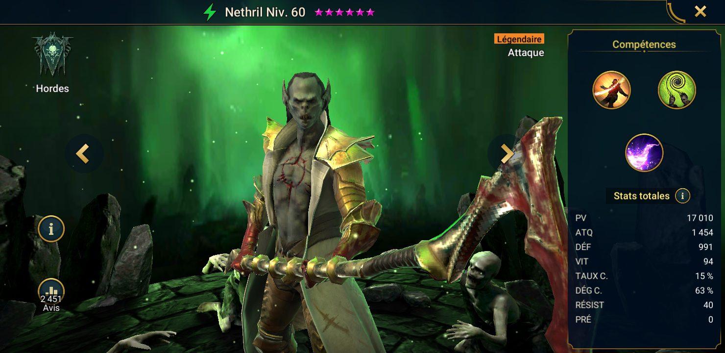 présentation nethril raid shadow legends