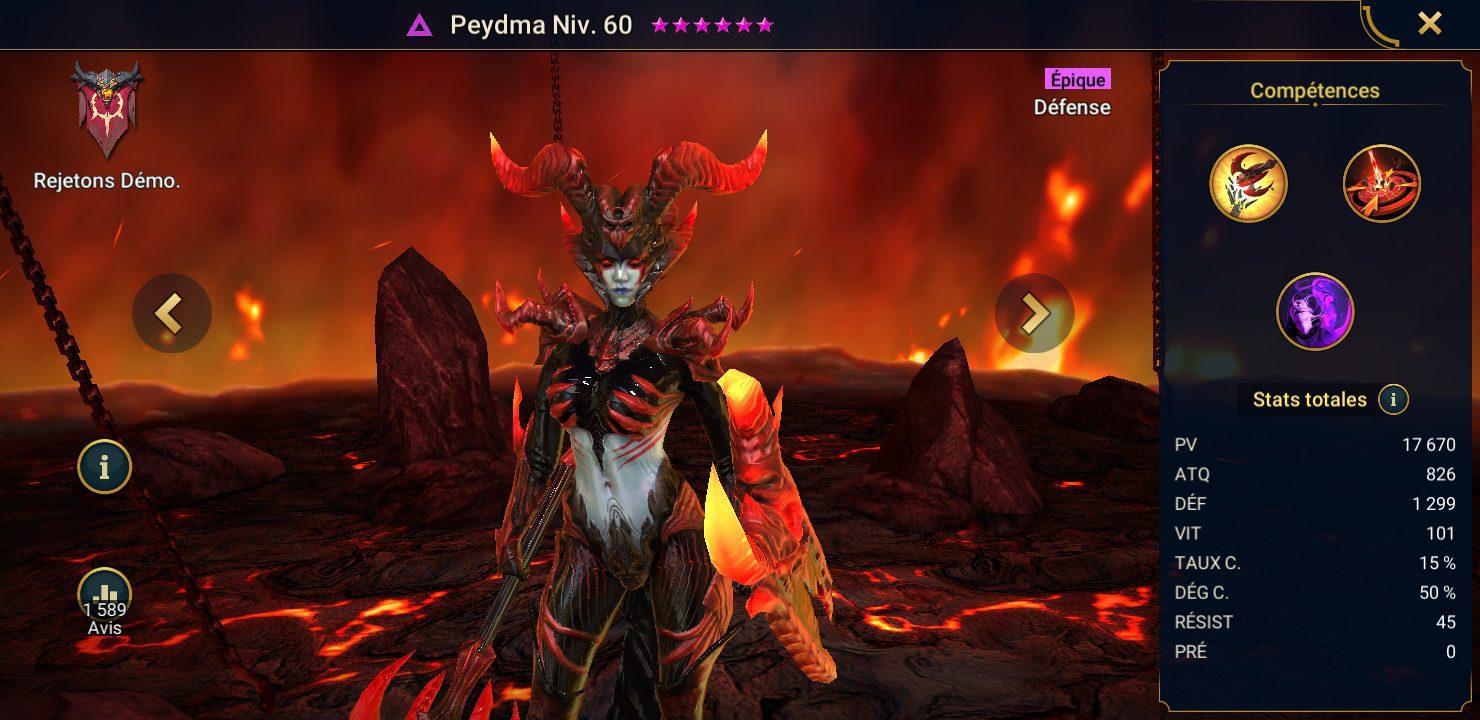 présentation de peydma raid shadow legends