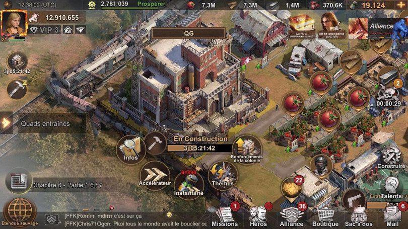 State of Survival - Quartier général options