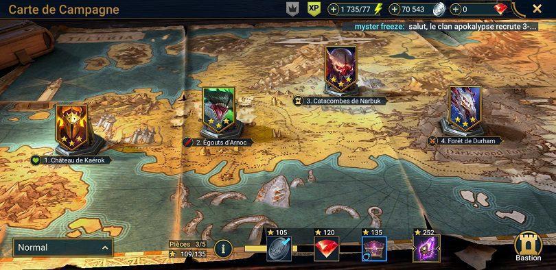 missions de la campagne de Raid: Shadow Legends