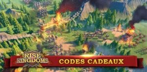 codes cadeaux rise of kingdoms
