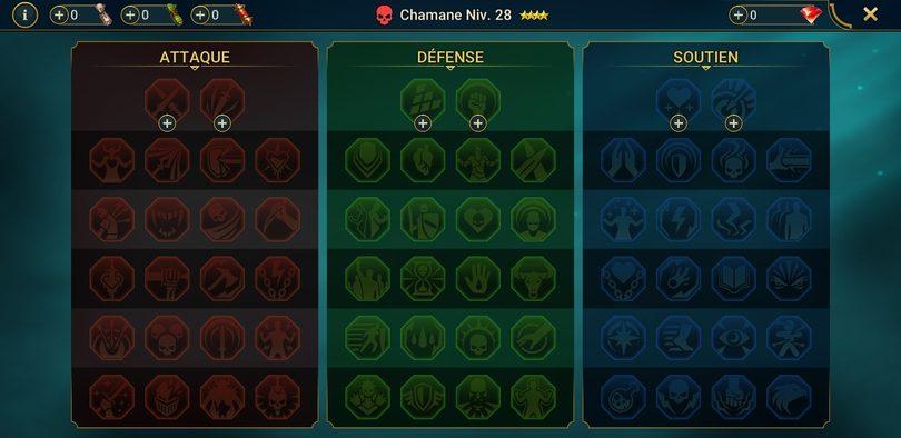 les différentes maîtrises disponibles dans Raid: Shadow Legends
