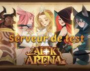 serveur test afk arena