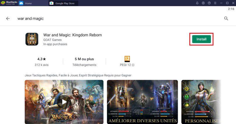 Installer War and Magic sur PC