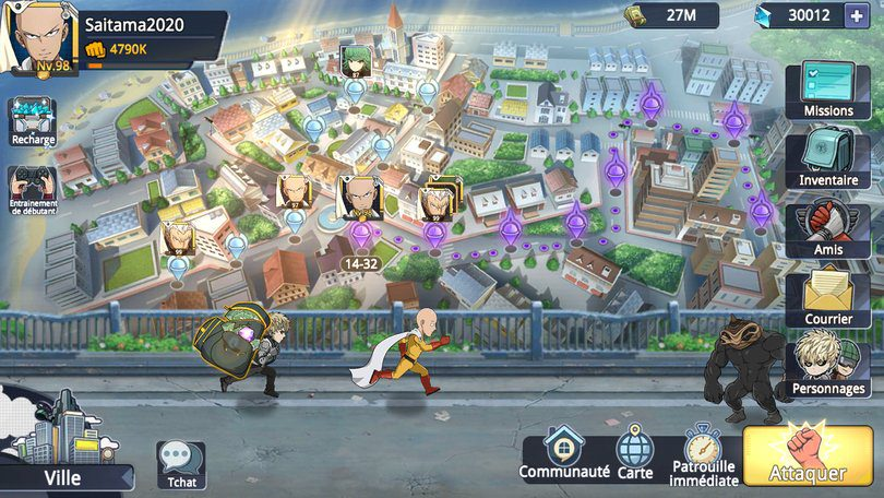 One Punch Man Road to Hero 2.0 meilleur jeu gacha