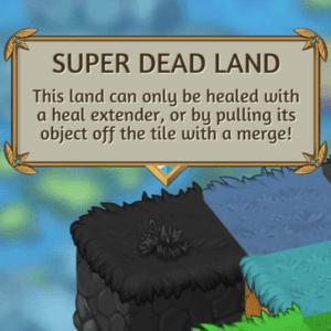 La terre morte dans le Défi 16 Merge Dragons.