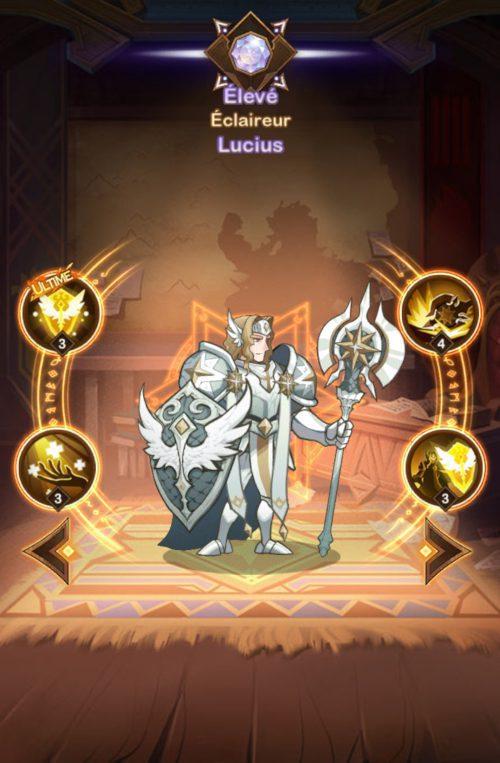 Présentation des personnages de AFK Arena pour tier-list - Lucius