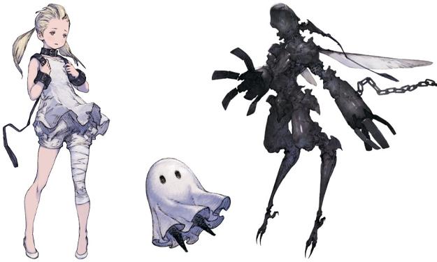 Les personnages de NieR Reincarnation avant sa sortie en Europe.