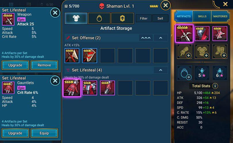 ajouter artefacts rsl