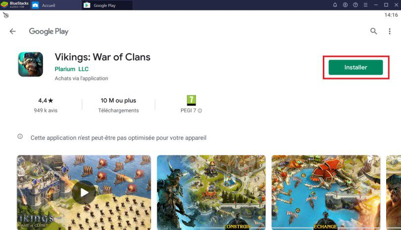 Installer Vikings War of Clans sur PC