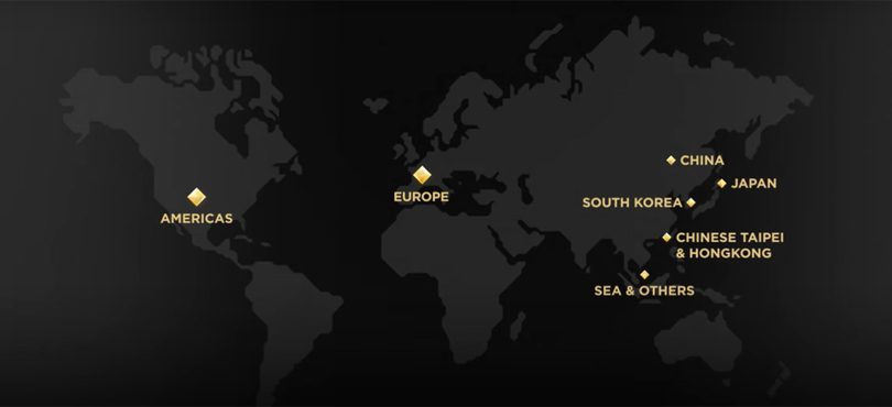 Les régions du SWC 2020