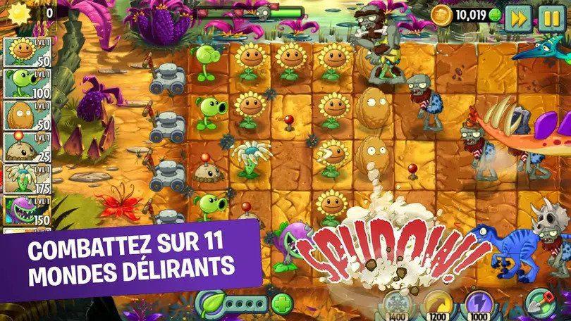 Plants vs Zombies 2 meilleurs jeux mobiles de stratégie