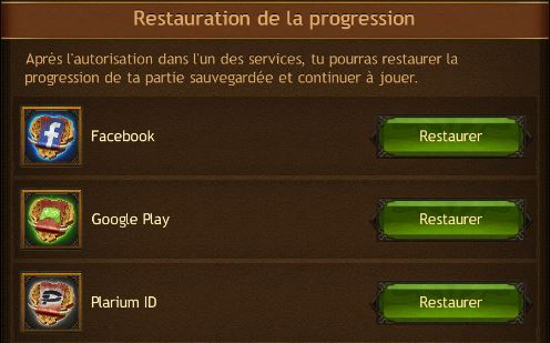 Restaurer sa progerssion dans Vikings: War of Clans