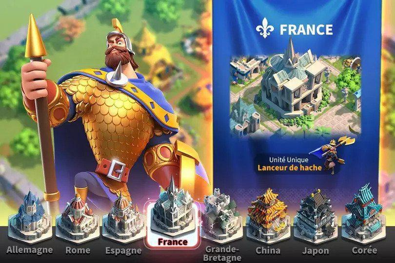 Rise of Kingdoms meilleurs jeux mobile de stratégie