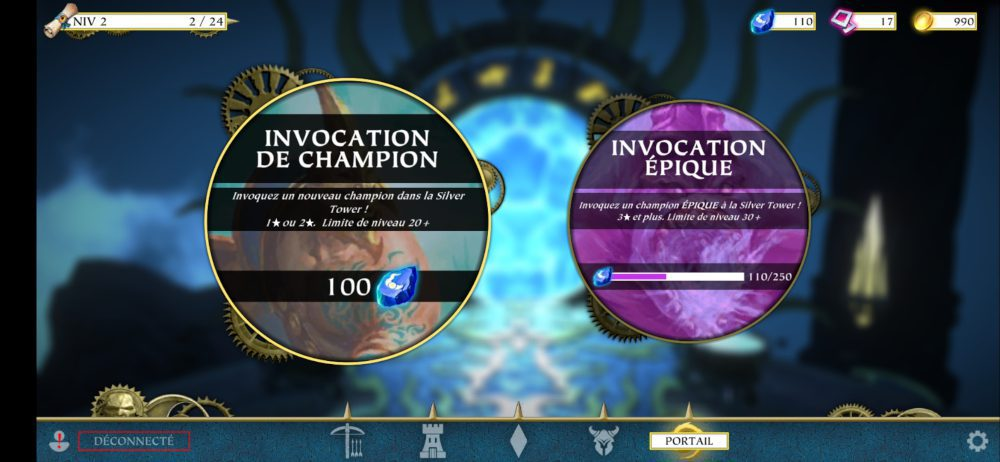 Warhammer Quest: Silver Tower invocation de champion