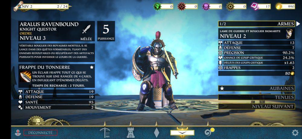 Un champion dans Warhammer Quest: Silver Tower