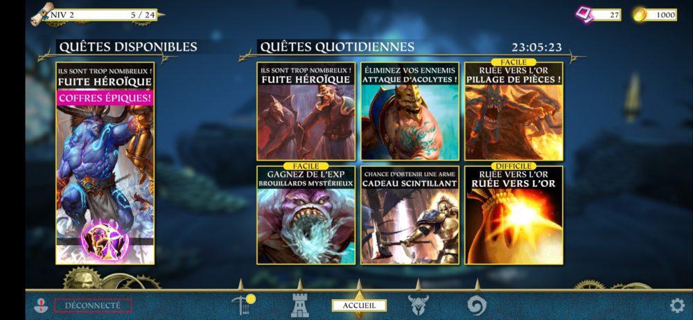 Quêtes secondaires dans Warhammer Quest: Silver Tower