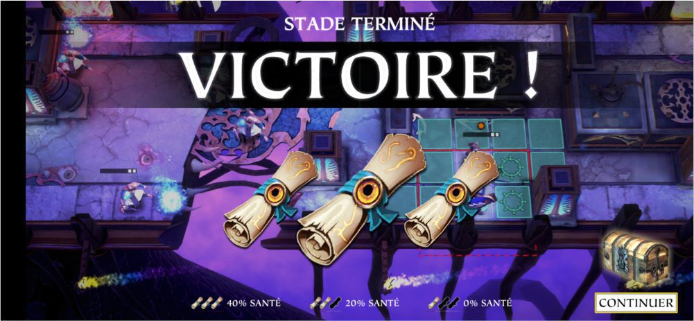 Victoire de niveau dans Warhammer Quest: Silver Tower