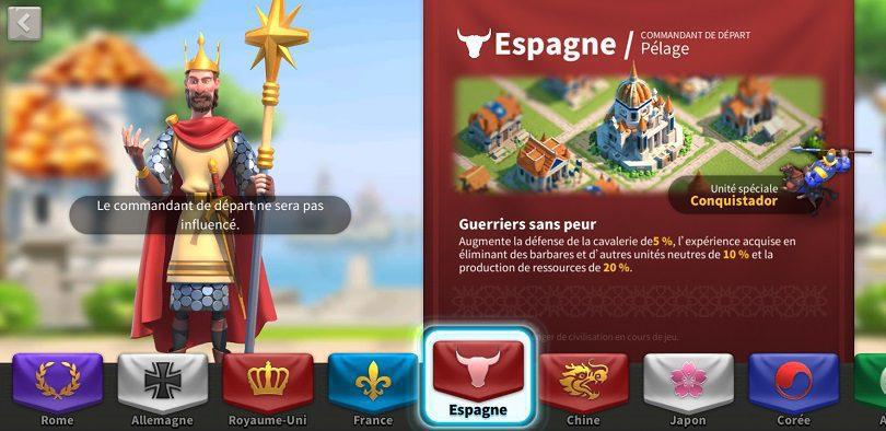 Espagne cavalerie astuce RoK FR