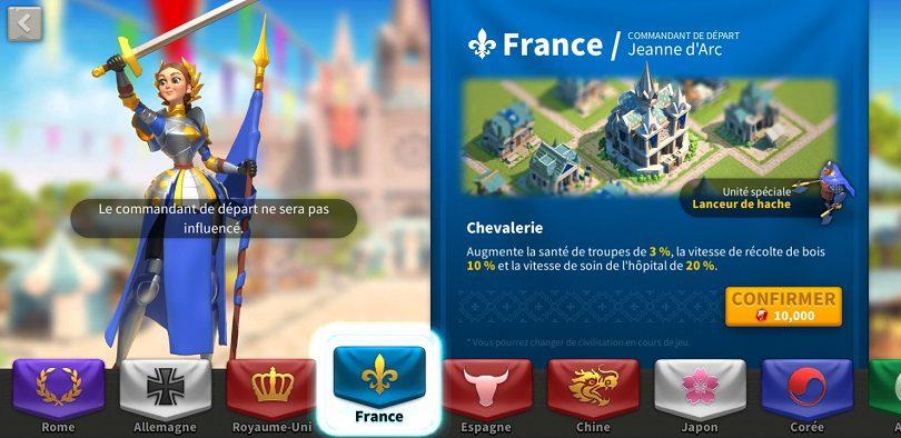 Récolte farm France Rise of kingdoms