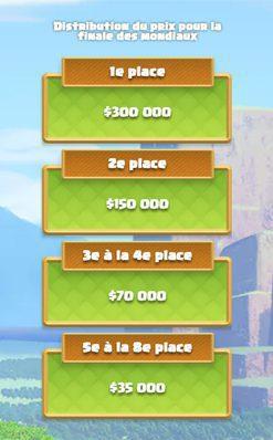 Cash-prize et dates du CoC World Championship
