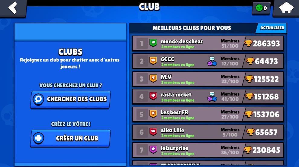 Guide Brawl Stars, les clubs