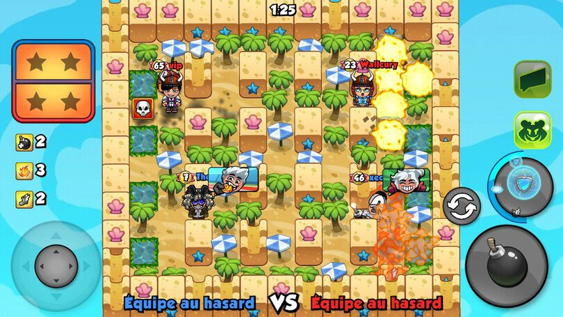 jeu mobile multijoueur Bomber Friends