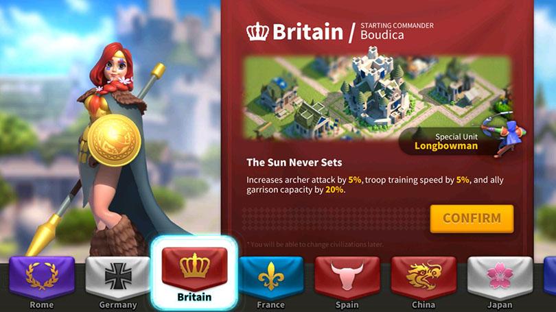Boadicea United Kingdom Rise of Kingdoms
