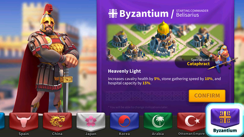 Byzance Rise of Kingdoms