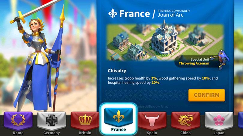 Harvest farm France Rise of kingdoms