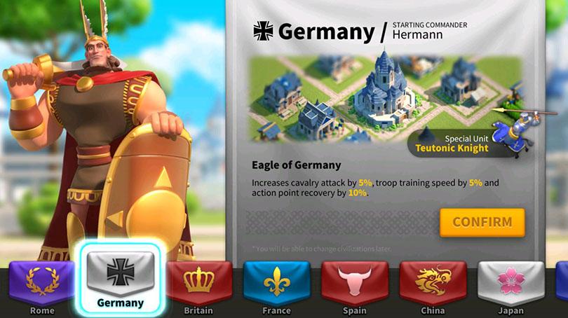 Germany civilization PvP